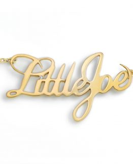 collar rockero oro little joe