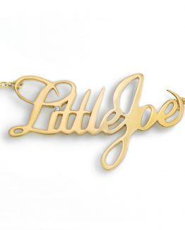 collar rockero oro little joe