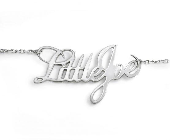 colgante de plata little joe