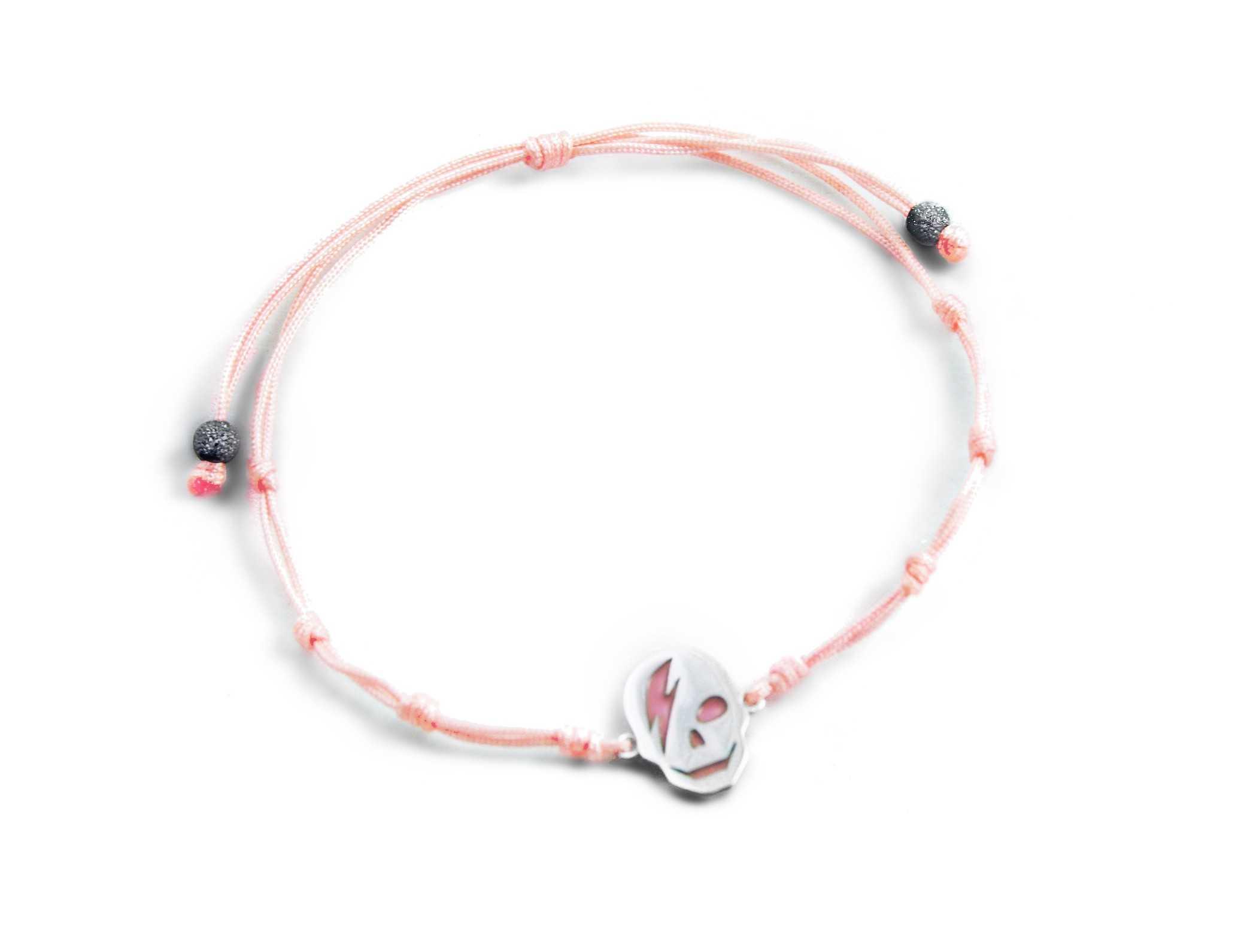 4737c8032fb1 Pulsera cordón rosa ICON en plata