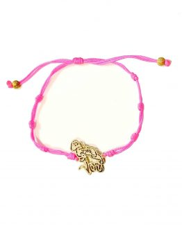 Pulsera fucsia Little Joe en oro