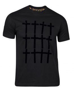 camisetas cruces negro hombre