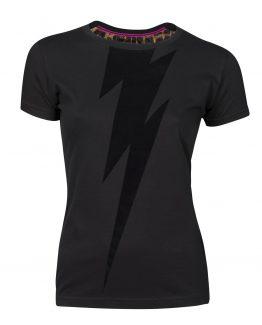 camiseta rayo bowie negro